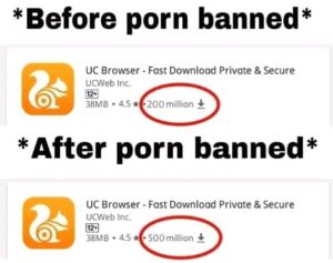 Ucbrowser Downloads After Porn banned in India